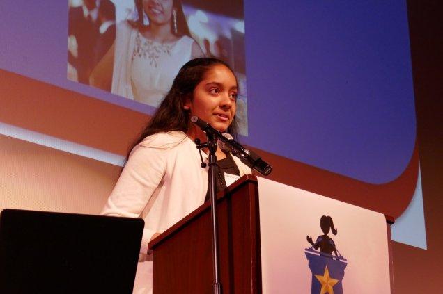 Hersha at podium